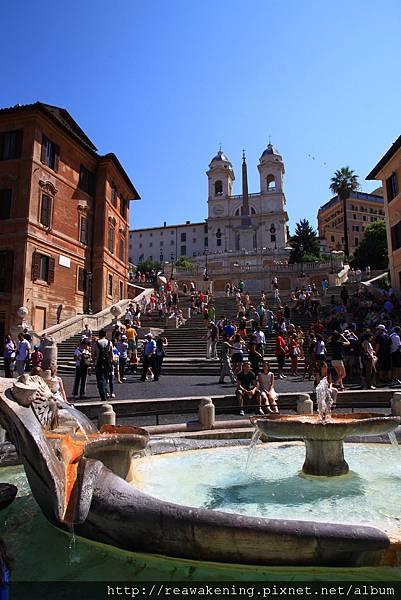 0802 破船噴泉與西班牙廣場 Piazza di Spagna