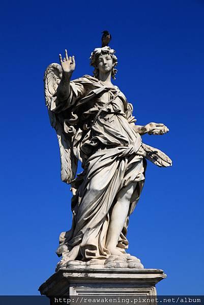 0802 聖天使橋上的天使雕像 每個都不同6