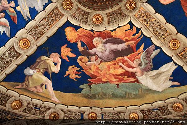 0803 Eliodoro 頂棚畫作 神於西乃山上向摩西顯現