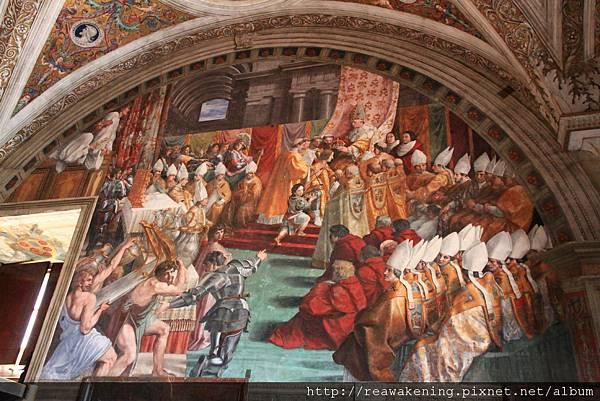 0803 波哥區火災--著名的濕壁畫 出自拉斐爾的構想