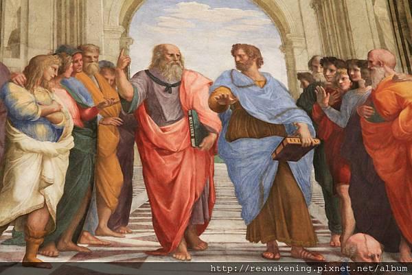 0803 雅典學院 左為柏拉圖 右為亞里斯多德