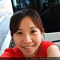 0804 等待巴士發車前的自拍照