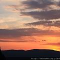 0806 被夕陽染紅的天空