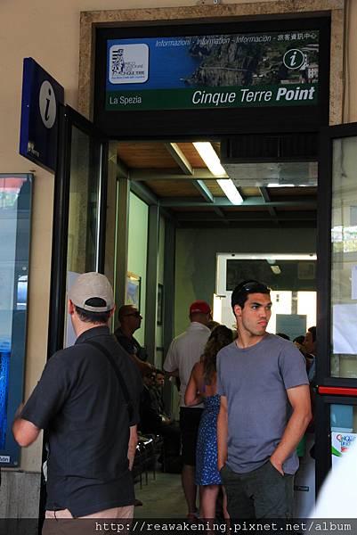 0812 一到La Spezia 車站就直奔售票亭