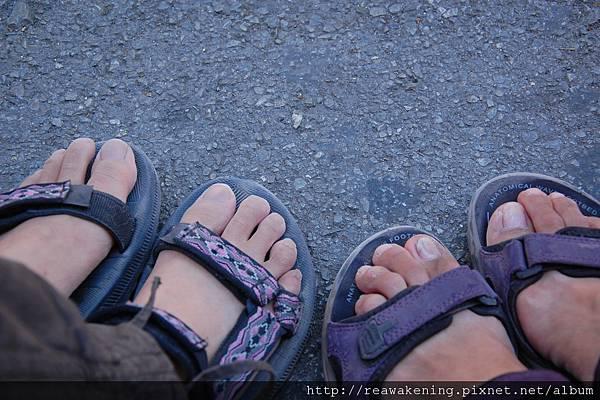 0726 看看我們灰頭土臉的腳 和老了一百歲的鞋子
