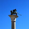就是這隻啦 威尼斯的城徽 守護神 帶翼的獅子.JPG