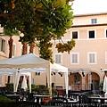 0731 Orsa Maggiore Roma 民宿樓下的露天餐廳