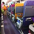 0723 泰航經濟艙--是我坐過最五彩繽紛的了