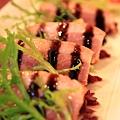 120916 也是非常清爽的開味菜波蘿鴨胸佐紫高麗
