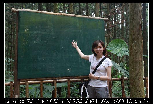 戶外教室的黑板