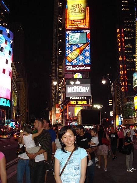 晚上的Time Square