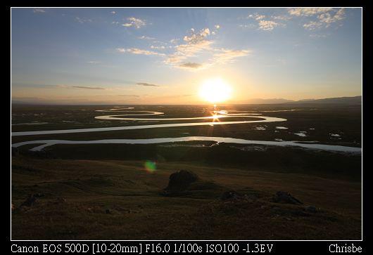 太陽漸漸下沉  大家猛力地算到底有幾個夕陽