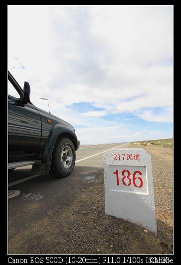 國道上的里程碑