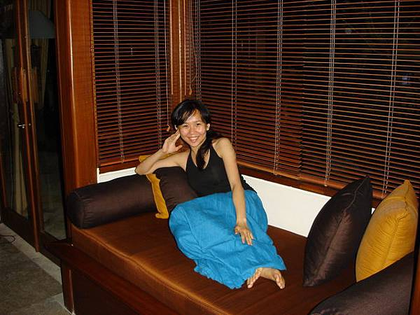 烏布villa裡舒適的長椅子