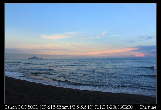 0914晚霞映照著龜山島