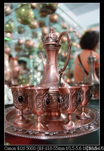 非常精美的銅器茶壺組