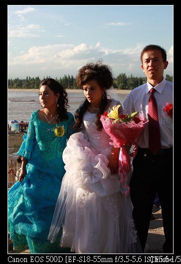 新郎新娘和伴娘