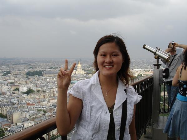 法國--巴黎鐵塔上