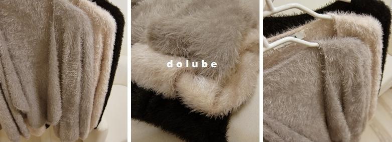 桃樂比【C5022X】垂墜翻領毛海罩衫-灰色-399-4