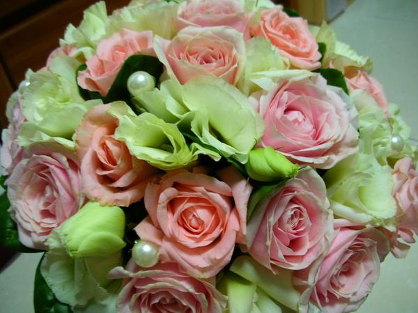 粉色搭綠白真是絶配