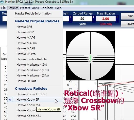 2 Retical選 crosbow SR