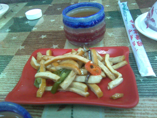餐前小菜跟麥茶