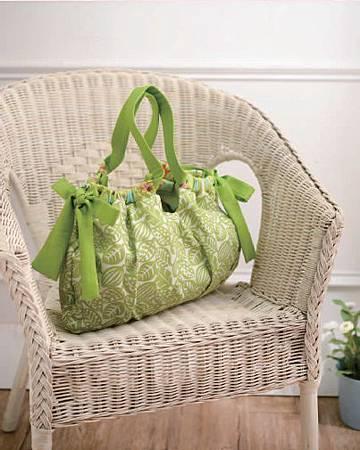 春漾雙面軟布包.綠2