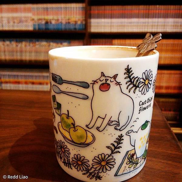 田中園的貓咪咖啡杯