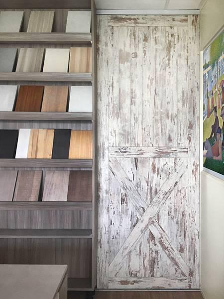 R5816 仿古漆木 穀倉門 室內設計