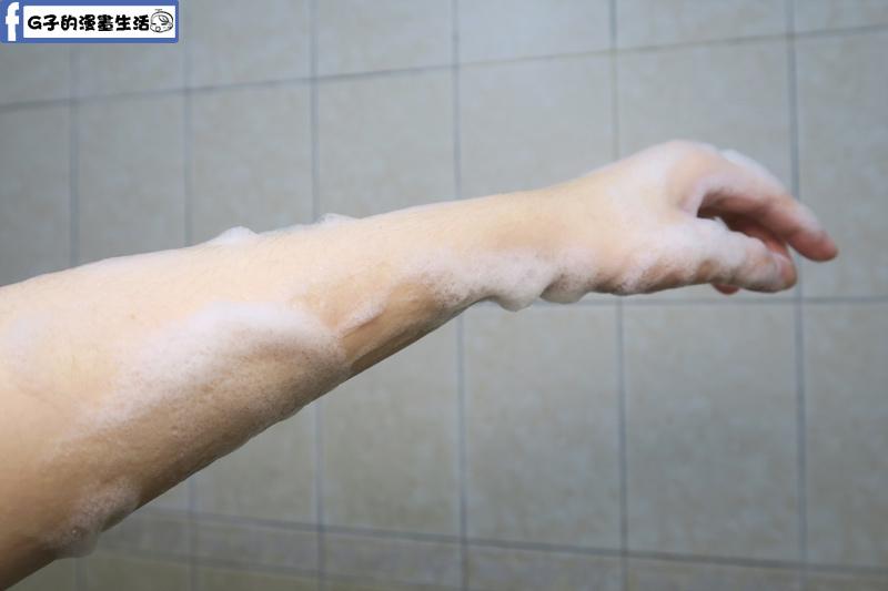 洗起來肌膚摸起來有點滑,洗完很舒服,