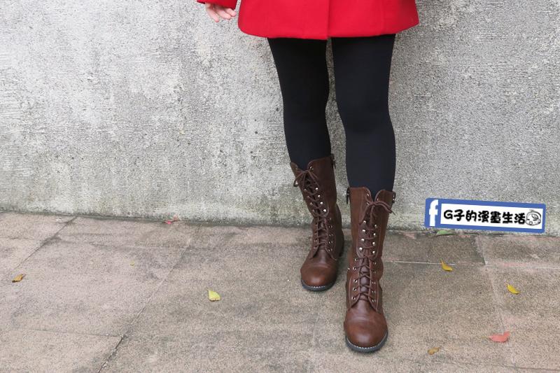 amay-style艾美時尚中長馬靴正面戶外.jpg