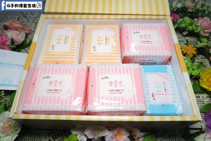 康乃馨香黛兒衛生棉日光暖暖禮盒內容