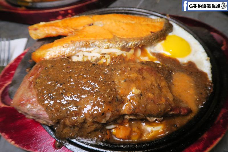 永和鮮牛排組合餐-菲力牛排+鮭魚