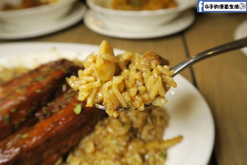 蘑菇森林美式BBQ烤豬肋排燉飯