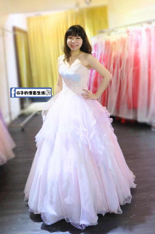 最佳風情國際婚紗影城4樓桃心領棉花糖婚紗