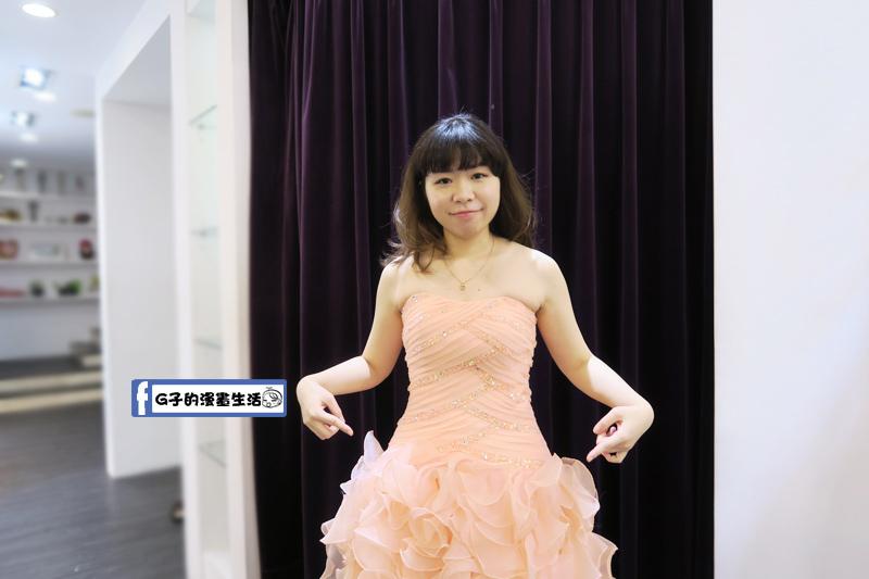 最佳風情國際婚紗影城2樓粉橘晚禮服
