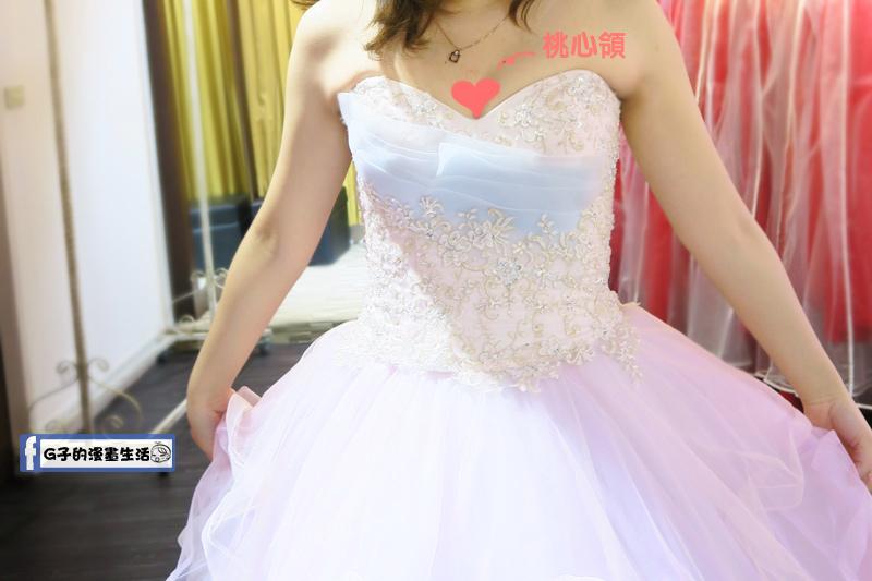 最佳風情國際婚紗影城4樓桃心領棉花糖禮服