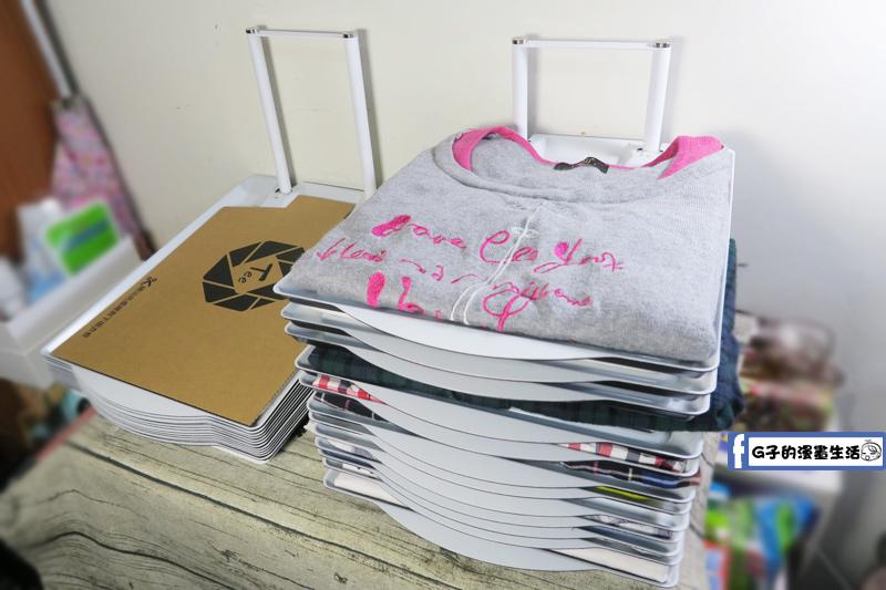 TEE不亂 衣物疊衣板收納架 擺放不佔空間