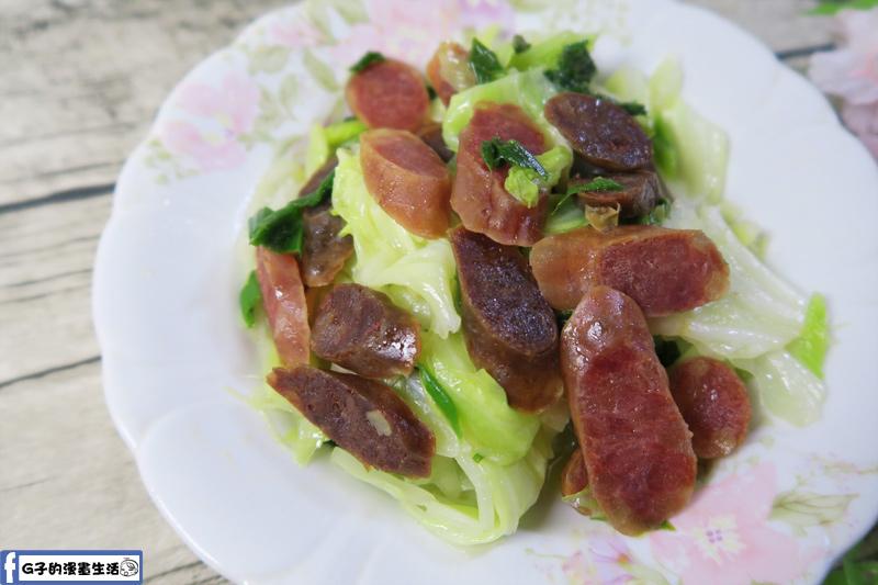 南門市場萬有全手工金華火腿-玫瑰臘腸.肝腸炒高麗菜
