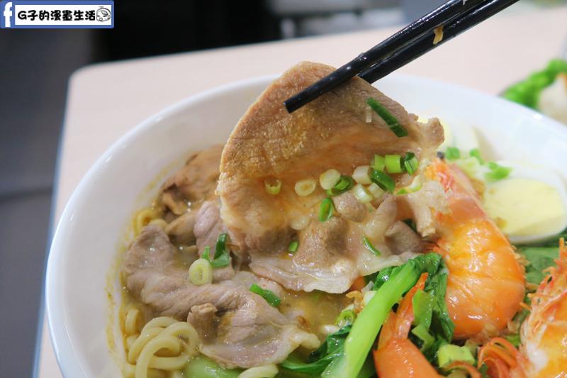 MB white coffee南洋料理餐廳 檳城蝦麵肉片滿多片