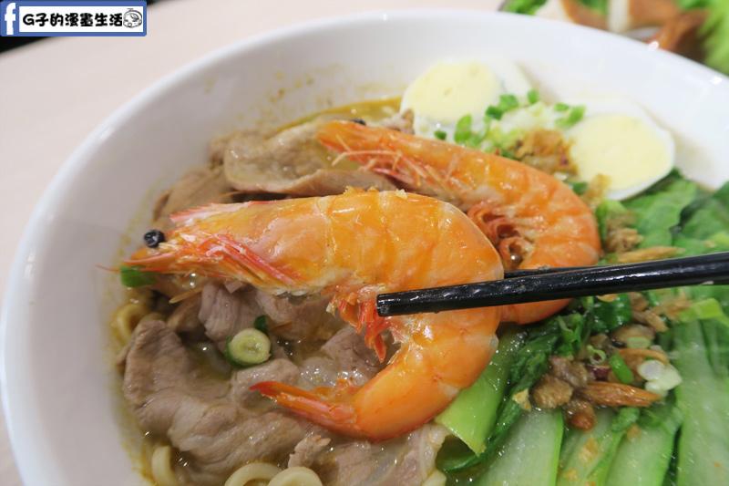 MB white coffee南洋料理餐廳 檳城蝦麵 蝦子很大