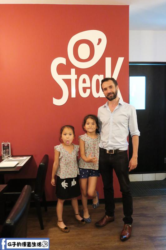 O'Steak 歐法牛排 法國餐廳 老闆尼凯和兩個女兒
