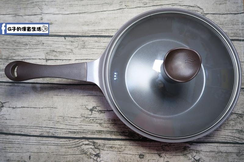 韓國NEOFLAM Aeni系列 28cm陶瓷不沾炒鍋+玻璃鍋蓋(EK-AN-W28)粉紅色28cm不沾炒鍋3.7