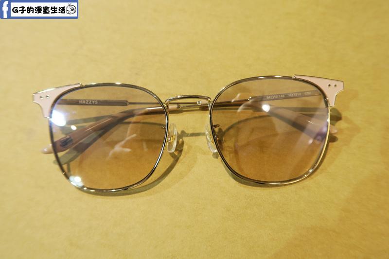韓國品牌 HAZZYS 新品 淺色透明墨鏡
