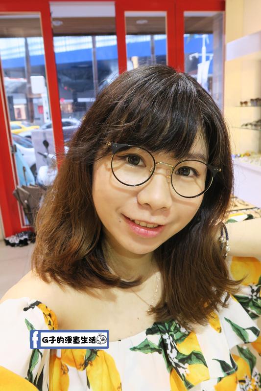 韓國品牌 HAZZYS 光學鏡架 金屬小貓眼