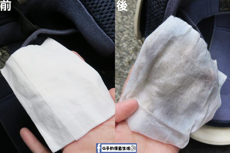 防御工事-安全帽/汽車內裡 乾洗消臭清潔慕斯 擦拭安全帽濕紙巾對比