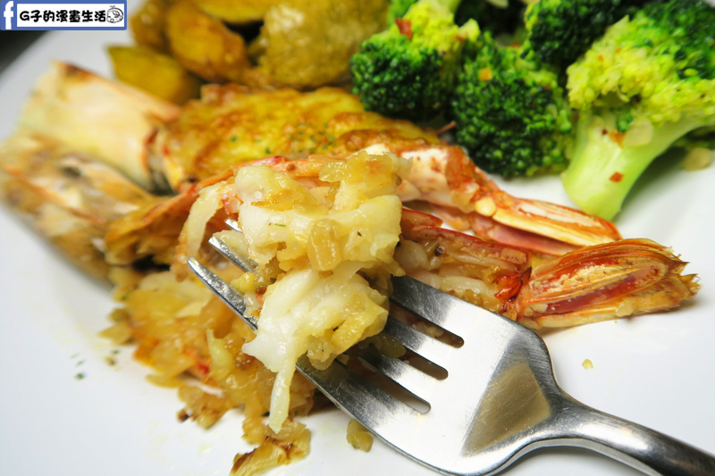 F&F 仁愛•輕概念食飲 餐廳 商業午餐-焗烤天使大紅蝦
