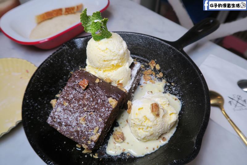 F&F 仁愛•輕概念食飲 餐廳 點心-冰淇淋莓果布朗尼