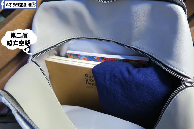 RITE 獅口包-撞色灰藍 / 無痕拆裝子母包 大開口大空間