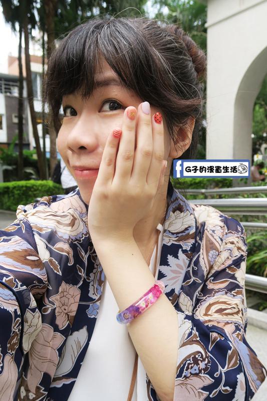 中山站-YOJA 由甲智能美甲 橘色系+白色,很活潑